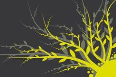 Floral Background Yellow -Gray Stock Images