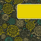 Floral  background with yellow label Royalty Free Stock Images