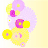 Floral background. In yellow and purple flowers Royalty Free Stock Photos