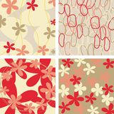 Floral backgrounds. Set of four floral backgrounds design stock illustration