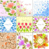 Floral backgrounds. Set of 9 floral backgrounds Stock Photography