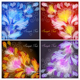 Floral backgrounds. Set of 4 floral backgrounds Royalty Free Stock Image