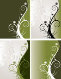 Floral Backgrounds. A set of 4 abstract floral backgrounds vector illustration