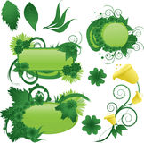 Floral Backgrounds. Grren Floral Backgrounds vector illustration button Vector Illustration