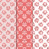 Floral backgrounds with colored seamless pattern. Designs for wallpapers and textile Royalty Free Stock Photography