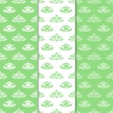 Floral backgrounds with colored seamless pattern. Designs for wallpapers and textile Stock Image