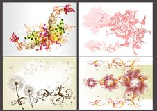 Floral  backgrounds design vector set Stock Image