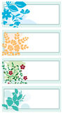 Floral backgrounds with plants - vector Royalty Free Stock Images