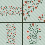 Floral backgrounds. With red flowers Royalty Free Stock Images