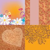 Floral backgrounds romantic set Royalty Free Stock Photography