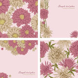 Floral backgrounds and seamless patterns Royalty Free Stock Photos
