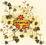 Floral  backgrounds - vector. Floral background with frame - vector Royalty Free Stock Image