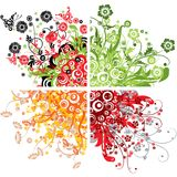 Floral backgrounds, vector Royalty Free Stock Photography