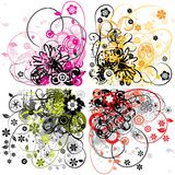 Floral backgrounds, vector Royalty Free Stock Photo