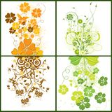 Floral backgrounds, vector Stock Image
