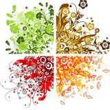 Floral backgrounds, vector Stock Photos