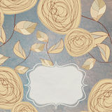 Floral backgrounds with vintage roses. EPS 8 stock illustration