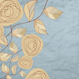 Floral backgrounds with vintage roses. EPS 8. Vector file included Royalty Free Stock Photos