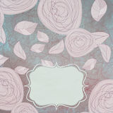 Floral backgrounds with vintage roses. EPS 8. Vector file included Royalty Free Stock Images