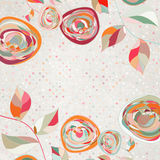 Floral backgrounds with vintage roses. EPS 8. Vector file included Stock Photo