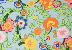 Floral backround. Closeup of retro floral fabric Royalty Free Stock Images