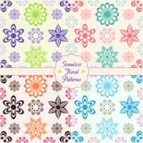 Floral backround. Beautiful seamless floral patterns collection with text royalty free illustration