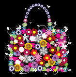 Floral bag Royalty Free Stock Images