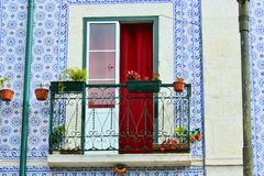 Floral balcony Royalty Free Stock Image