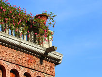 Floral balcony Stock Photo