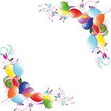 Floral balloon background Royalty Free Stock Photography