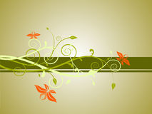 Floral banner. Vector illustration of an abstract floral background Stock Images