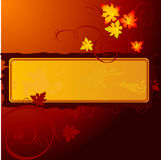 Floral banner. Vector beautiful floral banner design with autumn leaves Royalty Free Stock Photos