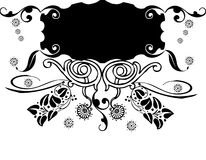 Floral banner. Abstract  illustration for design Royalty Free Stock Photo