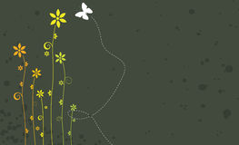 Floral Banner. An Illustration of a floral banner Stock Photos