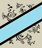 Floral banner. A floral vintage banner illustration Royalty Free Stock Photos