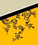 Floral banner. A floral vintage banner background Stock Photo