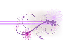 Floral banner. Illustration of a colorful floral background Stock Image