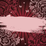Floral banner Royalty Free Stock Photos