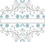 Floral banner. Decorative ornamental banner with flowers Royalty Free Illustration
