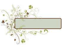 Floral Banner. Banner with flowers and floral swirls Royalty Free Stock Images