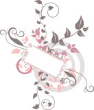 Floral Banner. Vector Floral Banner Design Element Stock Photography