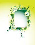 Floral banner. On the green background Royalty Free Stock Photography