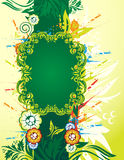 Floral banner. Green floral banner with place for your text Royalty Free Stock Photography