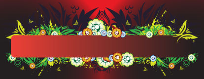 Floral banner. With place for your text Royalty Free Stock Images