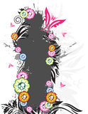 Floral banner. On the white background Stock Photo