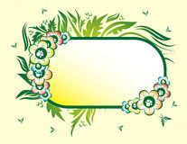 Floral banner. With place for your text Stock Image