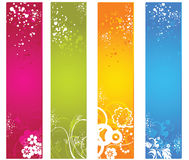 Floral banner Stock Image