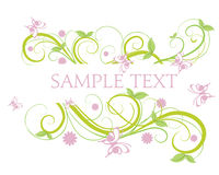 Floral Banner. Abstract Floral BackgroundBanner element with copy-space Royalty Free Stock Image