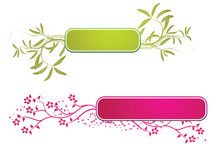 Floral banner. Easy to resize or change color Stock Photos