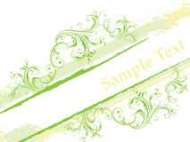 Floral banner. Easy to resize or change color Stock Photography